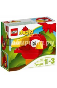 Конструктор DUPLO. Моя первая птичка (10852)Конструкторы из пластмассы и мягкого пластика<br>Вашему малышу понравится летать с этим милым попугаем LEGO® DUPLO®! Лёгкий в сборке набор помогает на раннем этапе развивать в игровой форме навыки конструирования и мелкую моторику. Дайте толчок воображению малыша: по-разному комбинируйте кубики, чтобы собрать самых разных птиц. Крупные кубики LEGO DUPLO специально сконструированы так, чтобы они были безопасны и удобны для маленьких ручек.<br>Для детей 1,5-3 лет.<br>Изготовлено из пластика.<br>