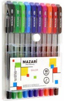 Набор шариковых ручек Sailor (10 цветов, чернила на масляной основе) (М-5700-10)Наборы шариковых ручек<br>Набор шариковых ручек на масляной основе.<br>В наборе 10 цветов.<br>Характеристики:  <br>- игольчатый пишущий узел 0.7 мм,<br>- корпус пластиковый прозрачный,<br>- мягкий грипп из синтетического каучука.<br>Состав: металл, пластик, синтетический каучук, чернила.<br>Сделано в Китае.<br>