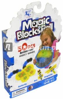 Конструктор-липучка Волшебный шар МАОМАО (1205-1)Конструкторы из пластмассы и мягкого пластика<br>Набор Magic Ball состоит из 50 разноцветных деталей, выполненных из мягкого пластика. Шарики-репейники легко соединяются друг с другом по принципу липучки, образуя различные конструкции, например, фигурки насекомых.<br>Набор Волшебный шар является аналогом конструктора Bunchems от бренда Spin Master, способствует развитию воображения, пространственного мышления и концентрации внимания.<br>Рекомендовано детям старше 4-х лет. <br>Материал: мягкий пластик.<br>Упаковка: картонная коробка с подвесом<br>Сделано в Китае.<br>