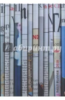 Ежедневник Офисный стиль. Газетные полосы (датированный, 176 листов) (ЕЖЛ18517605)Ежедневники датированные А5<br>Ежедневник датированный, 176 листов.<br>Справочные материалы, календари на 4 года.<br>