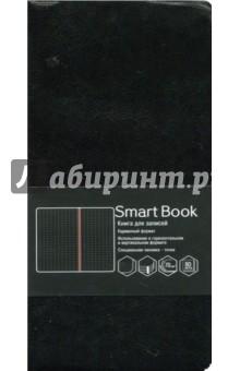 Книга для записей 80 листов, 90х178, Черный (КЗСБКЛ6802244)Записные книжки средние (формат А6)<br>Книга для записей.<br>Формат: 90х178.<br>Количество листов: 80.<br>Линовка: точка.<br>Внутренний блок: офсет 70 г/м2, дизайнерское оформление.<br>Сшитый блок, ляссе.<br>Обложка кожзам.<br>Сделано в Китае.<br>