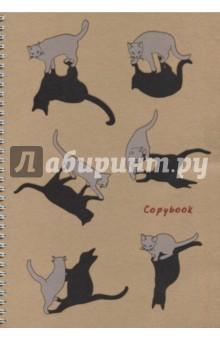 Тетрадь Графика. Кот и его тень (96 листов, клетка, А4) (ТСЛ4964387)Тетрадь общая в клетку. <br>На гребне.<br>96 листов.<br>Формат: А4.<br>