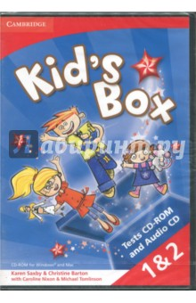 Kids Box Levels 1-2 Tests CD-ROM and Audio CDИзучение иностранного языка<br>Kid s Box is a six-level course for young learners. Bursting with bright ideas to inspire both teachers and students, Kid s Box fully covers the syllabus for the Cambridge English: Young Learners (YLE) tests. This Level 1 and 2 Tests CD-ROM and Audio CD allows you to regularly assess young learners in two ways: You can choose the unit tests, review tests and end-of-level tests, as customisable Microsoft Word documents. Are you teaching Cambridge ESOL exams? You can also choose the Cambridge English: Young Learners (YLE) style unit tests, review tests and end-of-level tests, as Adobe PDFs. Answer keys and audio for all tests are included.<br>System requirements<br>Windows® XP, Vista or 8 Mac OSX 10.4.11 or above 1 GB of RAM 500 MB of free disk space.<br>