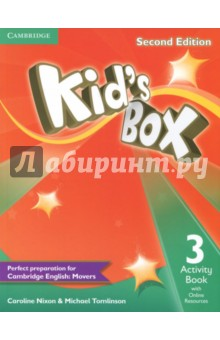 Kids Box 2Ed 3 AB +Online ResИзучение иностранного языка<br>Second edition of this popular course for young learners - now seven levels including Starter. Perfect preparation for Cambridge English Young Learners: Movers Well-loved by children and teachers the world over, Kid s Box is bursting with bright ideas to inspire you and your pupils. Perfect for general use, the course also fully covers the Cambridge Young Learners English (YLE) syllabus, preparing students for exam success. The Activity Book covers all the target language from the Pupil s Book, including one YLE practice activity per unit. Students also have access to an online platform with games and supplementary grammar, vocabulary and reading activities. All the students  online work can be tracked and reviewed by the teacher.<br>