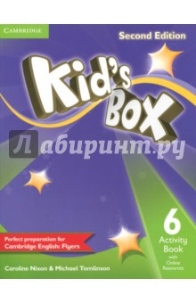 Kids Box 2Ed 6 AB + Online ResourcesИзучение иностранного языка<br>Second edition of this popular course for young learners - now seven levels including Starter. Perfect preparation for Cambridge English Young Learners: Flyers. Well-loved by children and teachers the world over, Kids Box Second edition is bursting with bright ideas to inspire you and your pupils. Perfect for general use, the course also fully covers the Cambridge YLE syllabus, preparing students for exam success.The Activity Book 6 covers all the target language from the Pupils Book, including one Flyers practice activity per unit. Students also have access to an online platform with games and supplementary grammar, vocabulary and reading activities. All the students online work can be tracked and reviewed by the teacher.<br>