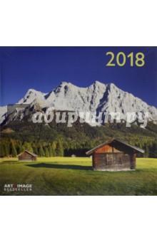 Календарь 2018 Альпы 30*30 (95601)Настенные календари<br>Календарь на 2018 год, настенный, ежемесячный.<br>Бумага мелованная, обложка глянцевая.<br>Формат: 300х300 мм.<br>Крепление: скрепка.<br>Количество листов: 12. <br>Верхняя половина - фотография, нижняя половина - календарный месяц.<br>