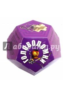 Игровой набор Додекаэдр. ФиолетовыйГоловоломки<br>В наборе: 2 интересные головоломки - деревянная и металлическая. А также небольшая книга с разгадками.<br>Сюрприз! В каждом наборе дополнительно лежит деталь деревянной пирамиды. Купи 4 различных набора и сложи пирамиду!<br>Материал: бумага, металл, дерево, пластик, текстиль.<br>Игрушка предназначена для детей старше 3 лет.<br>Изготовлено в Китае.<br>