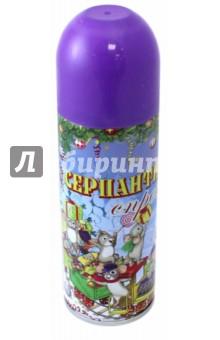 Серпантин синтетический  в спрее фиолетовый (75802)Аксессуары для праздников<br>Синтетический серпантин фиолетовый в спрее для новогоднего декорирования <br>Состав: стеариновая кислота, вода, диметиловый эфир, глицерин, этанол смолы, красители  <br>5.2x17/ 250мл <br>Сделано в Китае<br>