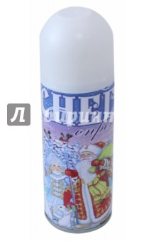 Снег синтетический в спрее (75800)Аксессуары для праздников<br>Синтетический снег белый в спрее для новогоднего декорирования. 5.2x17/ 250мл<br>Состав: вода,октилфеноксиполиэтоксил, этанол, сжиженный газ.<br>Сделано в Китае<br>