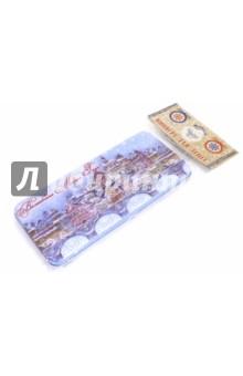 Коробочка для денег Сказочный город (76337)Конверты для денег<br>Коробочка подарочная для денег.<br>Размер 16,6 х 7,6 х 1 см.<br>Материал: черный окрашенный металл.<br>Упаковка: пакет с подвесом.<br>Сделано в Китае.<br>