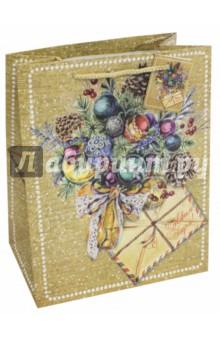 Пакет бумажный 26 х 32. 4 х 12. 7 см Еловый букет (75357)