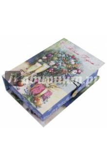 Коробка подарочная Шампанское у елки (75034)Другое<br>Коробка подарочная.  <br>Материал: мелованного, ламинированного, негофрированного картона плотностью 1100 г/м2, <br>Полноцветный декоративный рисунок на внутренней и наружной части<br>Размер 18 х 12 х 5 см.<br>Сделано в Китае.<br>