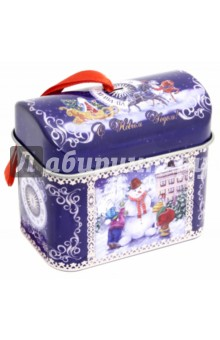Украшение елочное Сундучок с пожеланием (76333)Новогодние сувениры<br>Новогоднее подвесное елочное украшение Сундучок с новогодним пожеланием внутри<br>Материал: черный металл) <br>Размер: 7х4х6,1 см <br>Сделано в Китае<br>