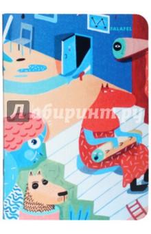 Блокнот Blue Room (A6, 40 листов, без линовки, кремовая бумага) (402718)Блокноты средние нелинованные<br>Формат A6 (95х138 мм), 40 листов кремовой бумаги 80 г/м2, без линовки, крепление на скрепку, обложка из плотной бумаги 300 г/м2.<br>Сделано в России.<br>
