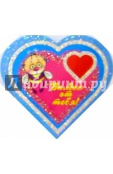 8Т-017/Балдею от тебя/открытка-сердечко двойная