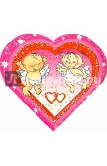 9Т-017/В день Святого Валентина/мини-открытка серд