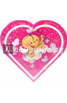 9Т-021/Ты на свете.../мини-открытка сердечко двойн