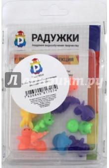 Набор Монстрики силиконовые разноцветные (12 штук)Другие виды игрушек<br>Набор Монстрики силиконовые разноцветные<br>Количество: 12 штук<br>Состав: силикон<br>Для детей от 3-х лет.<br>Сделано в России<br>