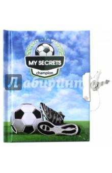 Записная книжка Мяч и бутсы (линия, 48 листов, замок) (45477)Записные книжки малые (менее формата А6)<br>Линованная записная книжка для детей, на замке с ключом.<br>85х115мм, 48 листов.<br>Материал: бумага офсетная, картон переплетный, металл.<br>Произведено в Китае.<br>