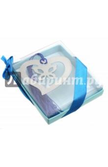 Закладка для книг Сердечко (нержавеющая сталь) (44951)Закладки для книг<br>Закладка декоративная для книг.<br>Размер: 6х5,5 см.<br>Материал: нержавеющая сталь.<br>Сделано в Китае.<br>