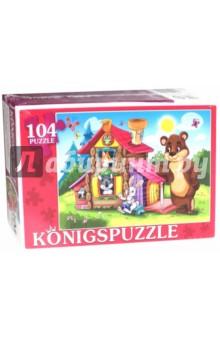 Puzzle-104 Теремок-1 (ПК104-5822)Пазлы (100-170 элементов)<br>Мы производим пазлы для детей на протяжении многих лет. Наши пазлы соответствуют важным критериям - высокое качество материалов, крепкая сцепка, яркая полиграфия и идеальная форма элементов, а развивающую роль пазлов трудно переоценить - это занятие улучшает внимание, память, мелкую моторику и цветовое восприятие!<br>Количество элементов: 104.<br>Размер собранной картинки: 340х240 мм.<br>Материалы: картон.<br>Упаковка: картонная коробка.<br>Для детей от 3-х лет. Содержит мелкие детали.<br>Сделано в России.<br>
