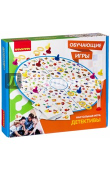Настольная обучающая игра Детективы (ВВ2409)Обучающие игры<br>Игра на тренировку памяти, способствует концентрации внимания и развитию зрительного восприятия. Также укрепляет социальное развитие. Игра на внимательность, сообразительность и скорость. Для младших детей данная игра является интересным способом изучения различных цветов и форм. По правилам игры игрокам необходимо найти картинки соответствующие игровому полю и карточке, таким образом набрав наибольшее количество колец за каждый правильный ответ. <br>Количество игроков: 2-4<br>В комплект входит игровое поле-пазл, значок 12 шт., кольцо 60 шт., карточка 60 шт., песочные часы.<br>Состав: пластмасса, картон, бумага.<br>Возраст: 5+<br>Сделано в Китае.<br>