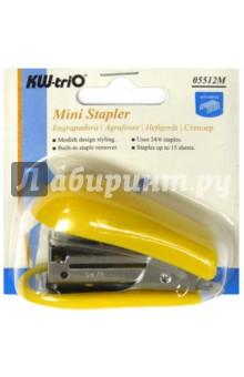 Степлер Mini 24/6 26/6, 50 скоб (5512YELL)Степлеры<br>Министеплер.<br>До 20 страниц.<br>Вместимость 30 скоб.<br>Сделано в Тайване.<br>