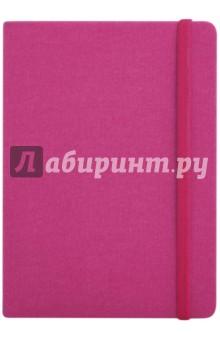Записная книга на резинке, 96 листов, 145*205 ДЖИНС МАЛИНОВЫЙ (45734)Записные книжки большие (формат А5 и более)<br>Записная книжка на резинке.<br>Формат: А5<br>Количество страниц: 192<br>Внутренний блок: офсет <br>Тип линовки: клетка<br>Крепление: интегральное<br>Сделано в Китае<br>