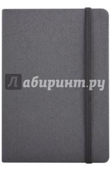 Записная книга на резинке, 96 листов, 145*205 СЕРЫЙ МЕТАЛЛИК (45738)Записные книжки большие (формат А5 и более)<br>Записная книжка на резинке.<br>Формат: А5<br>Количество страниц: 192<br>Внутренний блок: офсет <br>Тип линовки: клетка<br>Крепление: интегральное<br>Сделано в Китае<br>