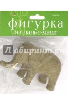 Фигурка из папье-маше СЛОН (2-593/09)Раскрашиваем и декорируем объемные фигуры<br>Фигурка из папье-маше.<br>Для декора и поделок.<br>Сделано в Китае.<br>