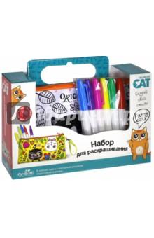 Cat. Сумка для раскрашивания Funny cats (03318)Роспись по ткани<br>Сумка для раскрашивания Origami Cat  понравится самым творческим и креативным девочкам. Ведь такую сумочку можно раскрасить своими руками, выбрав цвета по своему желанию. Идет в комплекте с разноцветными водостойкими маркерами, на самой сумочке нанесены контуры для раскрашивания. Аксессуар не стоит стирать в стиральной машине, однако можно протирать поверхность влажной тряпочкой. <br>В комплекте: сумочка с контурным рисунком,  водостойкие маркеры 6 шт.<br>