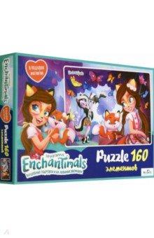 Enchantimals. Пазл-160+магнитик Фелисити и Сейдж (03543)Пазлы (100-170 элементов)<br>Волшебные подружки и их любимые друзья-зверюшки приглашают вас окунуться в фантастический мир. В новой коллекции пазлов на 160 элементов подружки приготовили для вас веселье и приключения!<br>