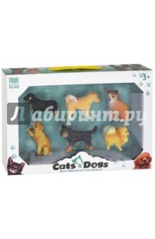 Щенята- набор 6 штук - в коллекции фигурок (67431)Животный мир<br>Игрушки, изображающие животных<br>Материал: пластмасса<br>6 фигурок<br>Для детей старше 3-х лет.<br>Сделано в Китае<br>