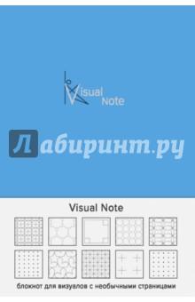 Блокнот Visual note (васильковый), А5Блокноты большие Точка<br>Коллекция Утренние страницы - это всегда что-то свежее, оригинальное и необычное.<br>Представляем блокнот для визуалов, в котором каждая страница - это новый дизайнерский узор, пробуждающий воображение и вдохновляющий писать, рисовать, творить. Забудьте про скучные блокноты, теперь круги или ромбы - это новые линейки.<br>
