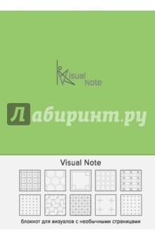 Блокноты Visual note (оливковый), А5Блокноты большие Точка<br>Коллекция Утренние страницы - это всегда что-то свежее, оригинальное и необычное.<br>Представляем блокнот для визуалов, в котором каждая страница - это новый дизайнерский узор, пробуждающий воображение и вдохновляющий писать, рисовать, творить. Забудьте про скучные блокноты, теперь круги или ромбы - это новые линейки.<br>