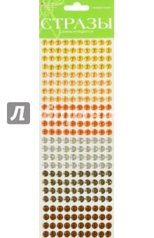 Стразы самоклеящиеся, 4 цвета, 8 мм, № 15 ГАммА (2-126/03)Сопутствующие товары для детского творчества<br>Стразы из полипропилена клеевые на плоской основе.<br>Состав: полипропилен, латексный клей.<br>4 цвета в упаковке.<br>Диаметр: 8 мм.<br>Для детей от 3-х лет. <br>Упаковка: блистер<br>Сделано в КНР.<br>