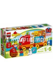 Конструктор Duplo. Мой первый грузовик (10818)Конструкторы из пластмассы и мягкого пластика<br>Помогите ребёнку научиться составлять пары вместе с набором Мой первый грузовик от LEGO® DUPLO®. Грузовик легко построить, используя объёмные кубики DUPLO, специально разработанные так, чтобы радовать и быть безопасными для маленьких ручек. Набор включает 8 пар разноцветных кубиков, декорированных изображениями продуктов, идеально подходящими для составления пар или игр для развития памяти. Также здесь вы найдете рыночный киоск, открывающий возможности для ролевых игр.<br>В набор входит 2 фигурки детей LEGO DUPLO и кот.<br>Для детей 1,5-5 лет.<br>