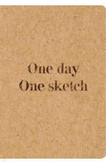 Скетчбук One day, one sketch (96 страниц)Блокноты (нестандартный формат)<br>Не представляете своей жизни без искусства? Яркий и стильный блокнот для рисования вдохновит Вас на новые идеи, твёрдый переплёт позволит использовать его как удобный планшет-скетчбук, в нём так и хочется нарисовать что-то красивое ... целых 96 страниц для творческого марафона.<br>