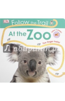 Follow the Trail: At the Zoo (board bk)Литература на иностранном языке для детей<br>Little ones will love using their fingers to follow the glittery, bumpy shiny trails to develop pre-writing skills. DKs Follow the Trail At the Zoo is a tactile board book packed with colourful illustrations to help encourage early learning.<br>This award winning series is perfect for hands-on learning, every page of this board book has a bright, bold finger trail with a special sparkly, bumpy finish. Packed with photos of lovable zoo animals like giraffes and koalas and peepholes that show you which creature is coming next. Follow The Trail At the Zoo is perfect for developing hand-eye coordination and pre-writing skills.<br>Help your toddler learn as the animals prowl or scamper along the trails, looking for their homes in the zoo. With the tactile trails and fun peepholes, your little one will love Follow the Trail At the Zoo, making early learning fun and exciting.<br>