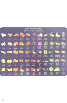 """Накладка на стол """"Фрукты и овощи"""" (А 3) (671619)"""