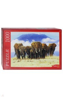 """Puzzle-1000 """"Слоны и горная вершина"""" (КБ 1000-6927)"""
