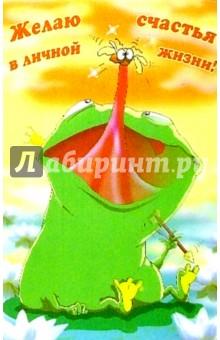 П027/Желяю счастья в личной жизни!/открытка-стерео