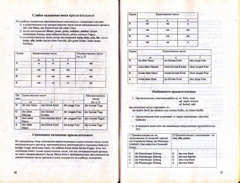 Грамматика немецкого языка (в таблицах и.