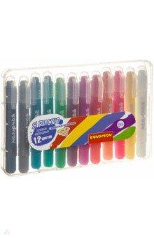 Набор гелевых карандашей для рисования, 12 цветов, металлик (ВВ 3462)