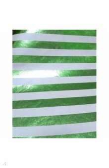 Крафт бумага Зеленые полосы (76685)