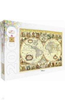 Step Puzzle-2000 84003 Историческая карта мираПазлы (2000 элементов и более)<br>Размер готовой картинки 960x680 (мм).<br>Игра-мозайка для детей старше 3 лет. Содержит мелкие элементы!<br>