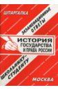 Шпаргалка: История государства и права России