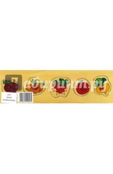 """Развивающая деревянная игра """"Овощи"""" (D107)"""