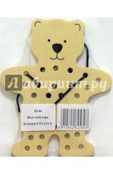 Медведь (D144)Шнуровки из дерева<br>Игрушка предназначена для детей до 6 лет.<br>Сделано в Китае.<br>