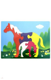 Лошади (DE03)Развивающие рамки<br>Игрушка предназначена для детей от 3-х лет.<br>Материал: дерево.<br>Сделано в Китае.<br>